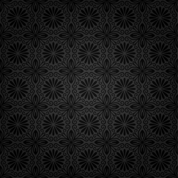 dark ornate floral seamless pattern vector