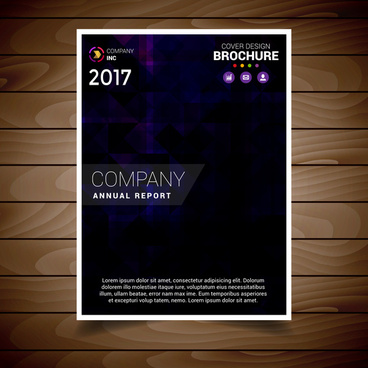 dark purple abstract brochure design template