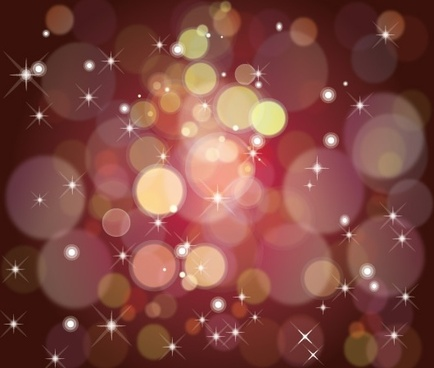 sparkling dark background various bubbles stars decoration