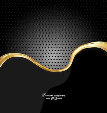dark style metal wave background vector set