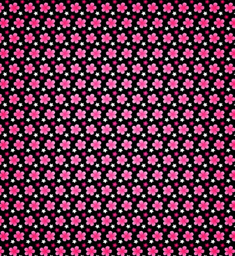 dark vibrant petal seamless pattern
