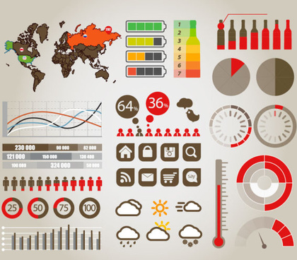 data infographics vector graphic