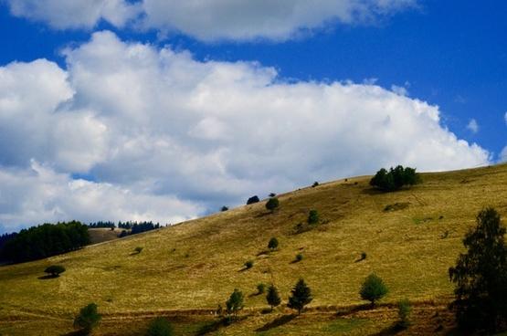 daytime grass grassland hill idyllic landscape