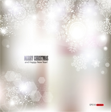 dazzling bright snowflake background shading vector