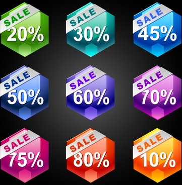 dazzling discount label vector