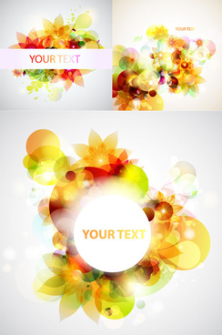 dazzling flower background vector art