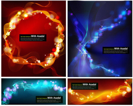 dazzling light background vector graphic