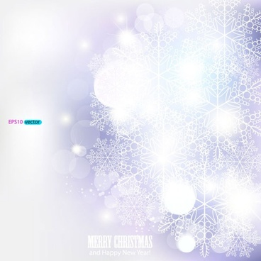 dazzling snowflake background 04 vector