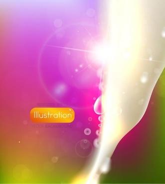 dazzling starlight ray background vector