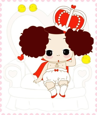 ddung confused doll vector