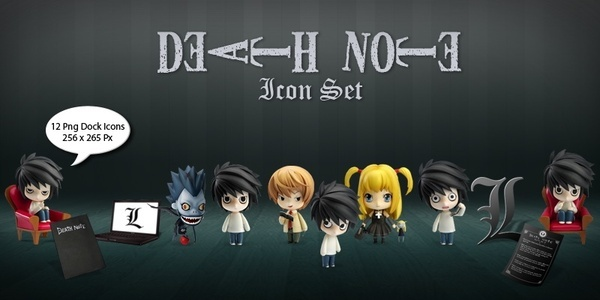 Death Note Icon Set icons pack
