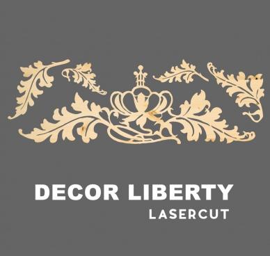 decor liberty silhouette for lasercut