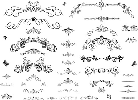 decor ornaments and border vector