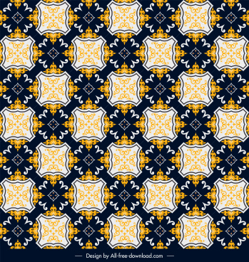 decor pattern template colorful classical repeating symmetrical design