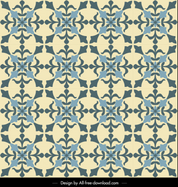 decor pattern template retro flat symmetrical repeating design