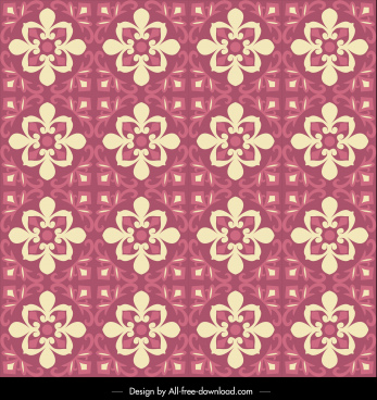 decor pattern template retro repeating symmetrical flora decor