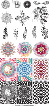 decor swirl templates india tribe kaleidoscope shapes