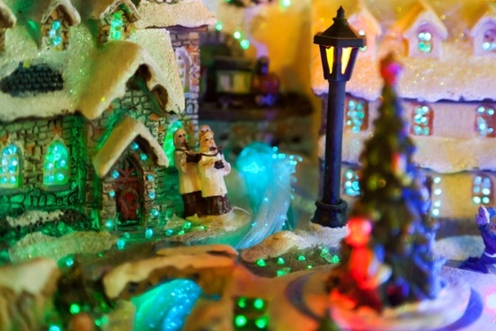 decoration christmas town