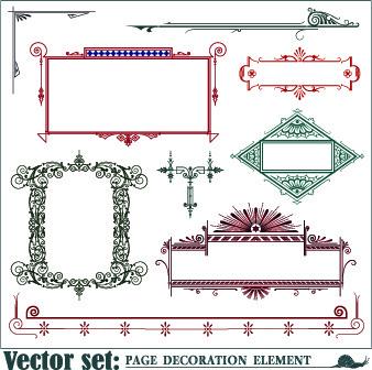 decoration frame element vector set