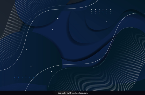 decorative abstract background template dark dynamic design