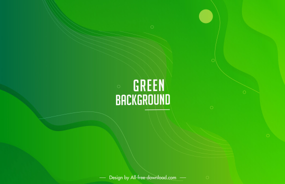 decorative abstract background template green monochrome