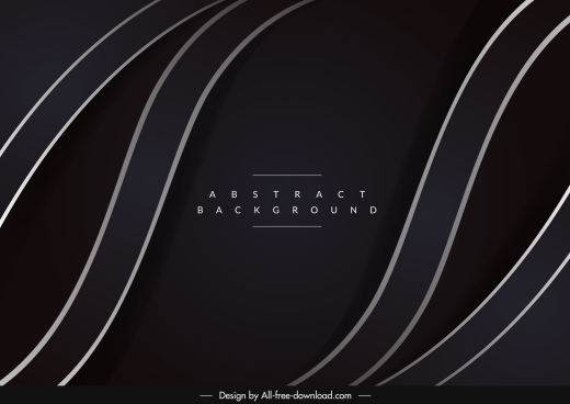 decorative background abstract curves dark black decor