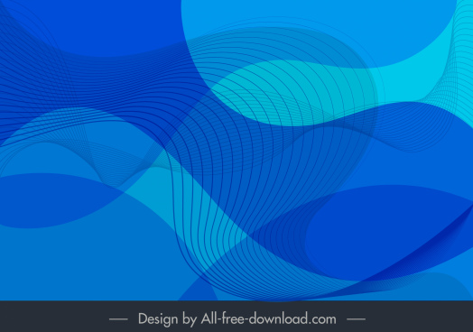 decorative background abstract dynamic curved lines blue design