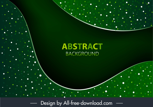 decorative background abstract sparkling green spots curves decor