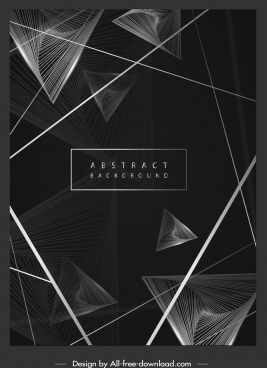 decorative background black white dynamic 3d geometric decor