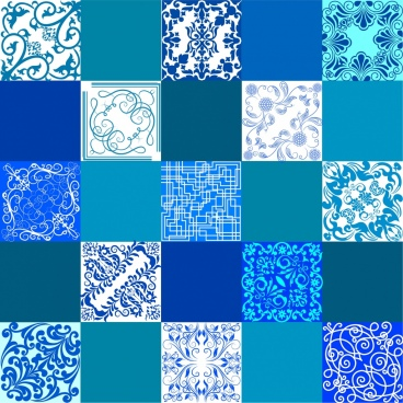 decorative background blue pattern squares isolation