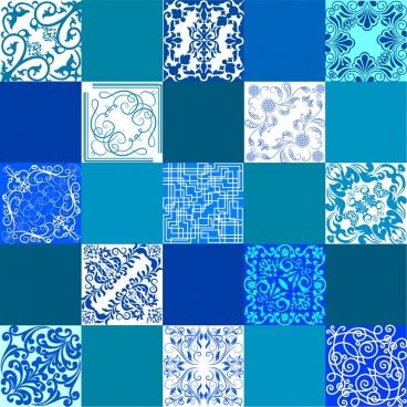decorative background blue pattern squares isolation