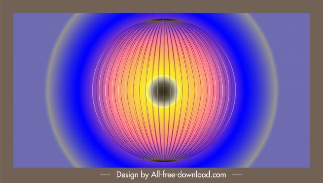 decorative background circle lighting lantern sketch