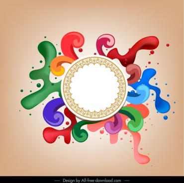 decorative background circle swirled splashed paint colors decor