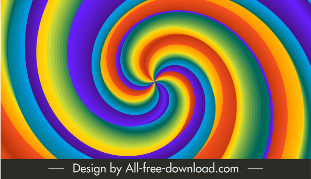 decorative background colorful dynamic twisted illusion decor