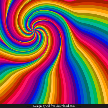 decorative background colorful dynamic twisted shape