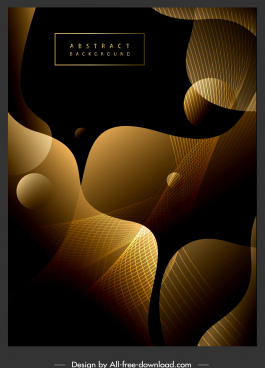 decorative background contrast golden black modern dynamic 3d