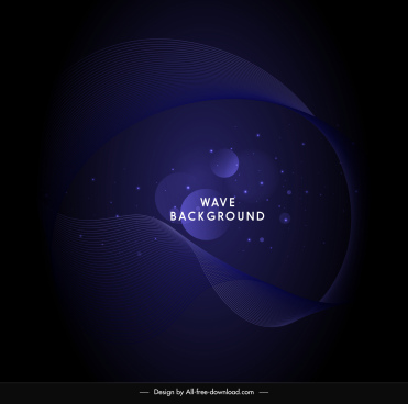 decorative background dark abstract dynamic curves circles design