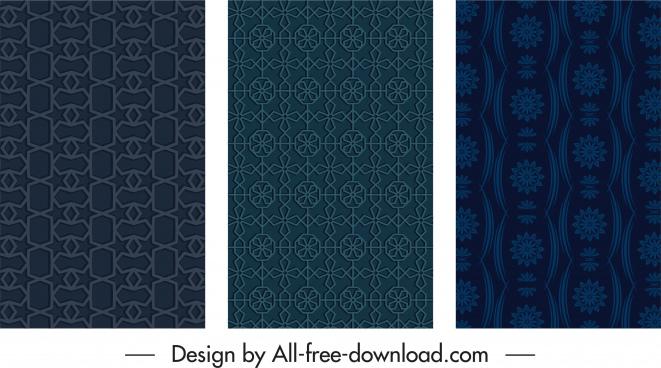 decorative background dark retro symmetric repeating shapes