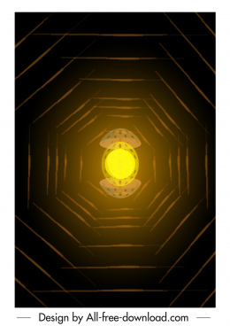 decorative background dark shining light blurred central egg