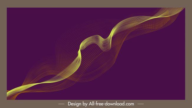 decorative background dynamic 3d waving lines