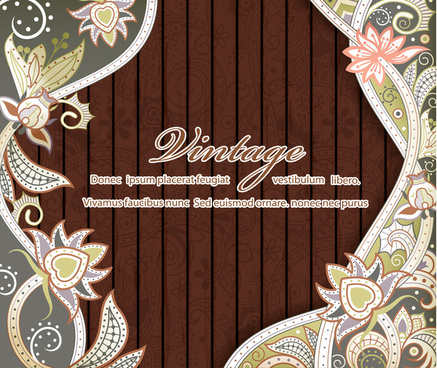 decorative background illustration with vintage style