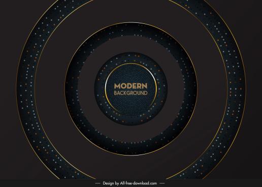 decorative background modern dark dynamic concentric circles