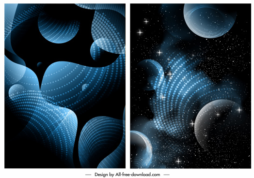 decorative background modern sparkling abstract space sketch