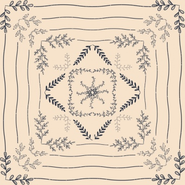 decorative background symmetric classical leaves ornament