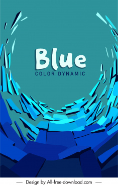 decorative background template blue dynamic 3d abstraction