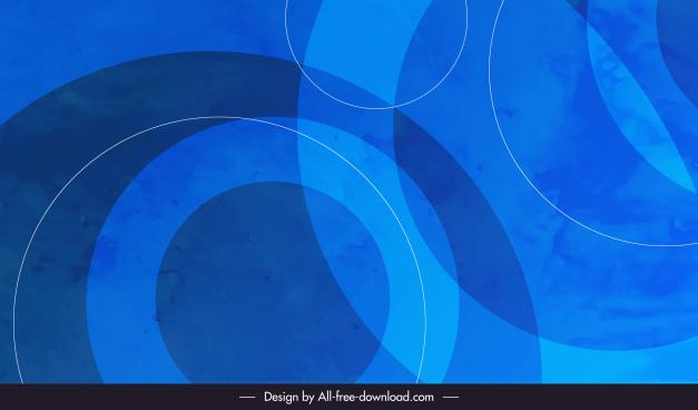decorative background template blurred circles sketch blue modern