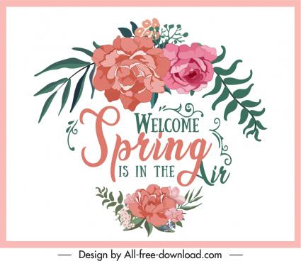 decorative background template botany wording sketch