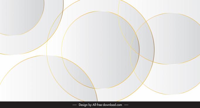 decorative background template bright flat circles decor