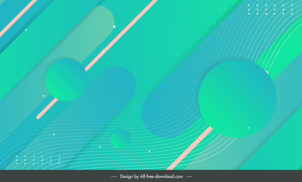 decorative background template bright green abstract geometry