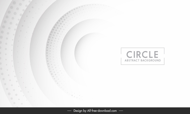 decorative background template bright white circle shapes